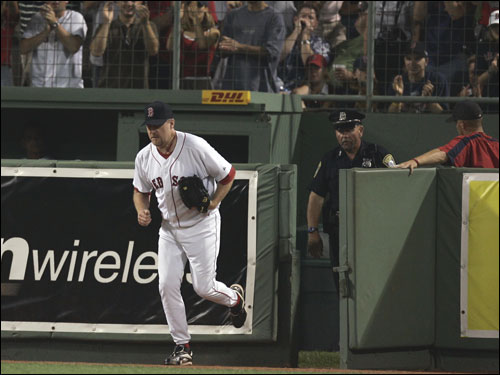 The Red Sox bullpen, statistically the worst in the majors, will get another shakeup this week as Curt Schilling rejoins the starting rotation. Click through these photos and vote as to how you'd set up the 'pen down the stretch.