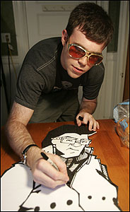 Along with Eric Robinson, Eric Devlin (above) created the comic 'Citizen Elvis.'