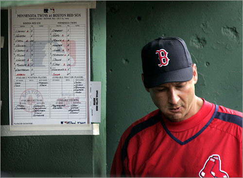 July 30-31, 2005 Before Sunday's game (just hours before the trade deadline), Ramirez burst into Francona's office during his morning meeting with the media and declared he wanted to stay in Boston. He also said he and Francona did not have any issues.