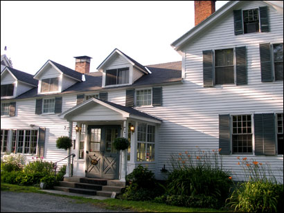The Inn at Weathersfield was built in 1792 and so has harbored travelers in Vermont for more than 200 years.