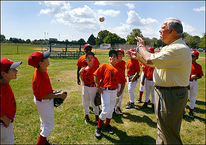 Menino threw a baseball around last month at Moakley Park in South Boston with players from a West Roxbury Little League team. During his tenure, Menino has spent more than $110 million on Boston parks and playgrounds.