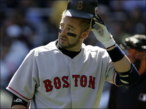 After he struck out in the second, Kevin Millar looked back at Randy Johnson, who seemed to be staring him down.