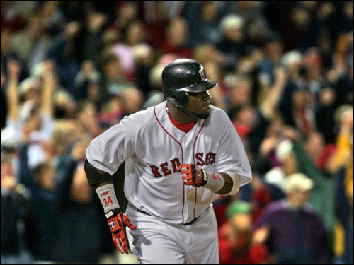 Sept. 29, 2005 Red Sox 5, Blue Jays 4 After hitting a game-tying homer in the bottom of the eighth, David Ortiz delivered a game-winning RBI single in the bottom of the ninth to give the Red Sox one of their most important victories of the season.