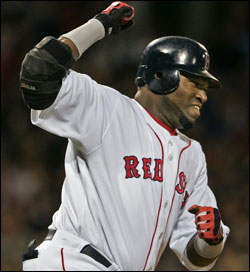 David Ortiz pumped his fist after his game-winning hit in the ninth. (Globe Staff Photo / Jim Davis) &nbsp;<a href='http://www.boston.com/sports/baseball/redsox/gallery/09_30_05_sox_jays' onclick='openWindow('http://www.boston.com/sports/baseball/redsox/gallery/09_30_05_sox_jays','','width=775,height=585,resizable=yes,scrollbars=yes,toolbar=no,location=no,menubar=no,status=no'); return false;'> Game photos &nbsp;<a href='http://www.boston.com/sports/baseball/redsox/gallery/ortizwalkoffs' onclick='openWindow('http://www.boston.com/sports/baseball/redsox/gallery/ortizwalkoffs','','width=775,height=585,resizable=yes,scrollbars=yes,toolbar=no,location=no,menubar=no,status=no'); return false;'> Ortiz's walkoffs &nbsp;<a href='http://www.boston.com/sports/baseball/redsox/gallery/09_15_05_ortiz' onclick='openWindow('http://www.boston.com/sports/baseball/redsox/gallery/09_15_05_ortiz','','width=775,height=585,resizable=yes,scrollbars=yes,toolbar=no,location=no,menubar=no,status=no'); return false;'> Case for Ortiz