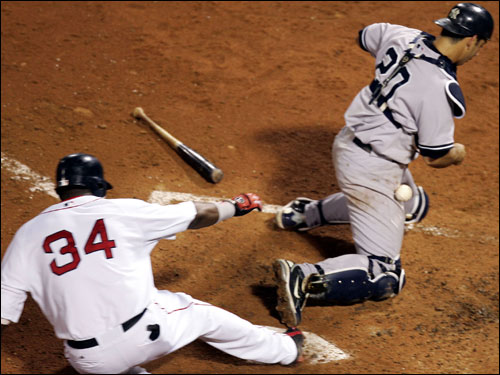 From a different angle, Ortiz was most definitely safe.