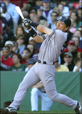 Hideki Matsui belted another home run to center off of Tim Wakefield in the third inning.