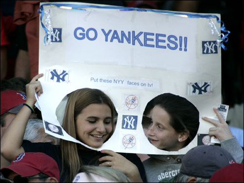Yankee fans were out at Fenway in full force.