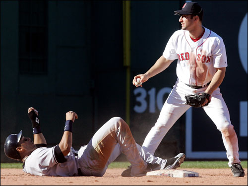 Tony Graffanino could not force an out on Gary Sheffield at second base.