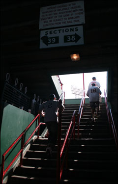 The Boston Red Sox played their last game of the 2005 season on a day as sunny as any spring training game in Fort Meyers, Fla. Where else to drink in this day but in the bleachers of Fenway Park in Sections 38 and 39.