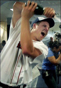 Rookie Jonathan Papelbon might be the most excited of all the Red Sox.