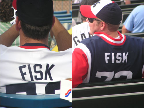 Hall of Famer Carlton Fisk split his time between Boston and Chicago. As you can see, he's still a favorite among White Sox fans.