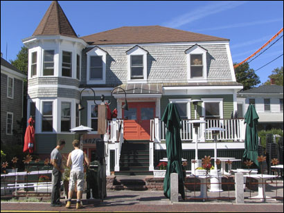 Exterior of Enzo in the West End of Provincetown.