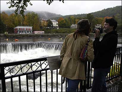 Dallas residents Nicole and Chance Michaels decided to vacation in New England to view the fall foliage. The couple spent some of their time overlooking waterfalls along the Deerfield River.