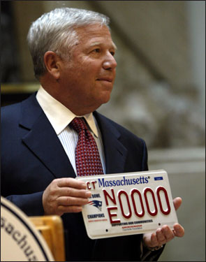 Patriots owner Robert Kraft has supported his team's foundation by opening his own checkbook.