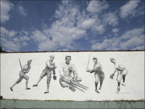A Shoeless Joe Jackson mural is part of the regrowth of the West Greenville area, where Jackson had his liquor store.