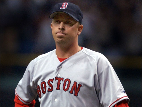 The free agent reliever signed with the Sox in December of 2002 and was released on July 30, 2003. He blew a save in the 2003 opener in Tampa and went on to have a 4.50 ERA in 18 innings of work for the Red Sox. Fox was picked up by the Marlins, had a 2.13 ERA in 21 games, and went on to pitch in the 2003 World Series.
