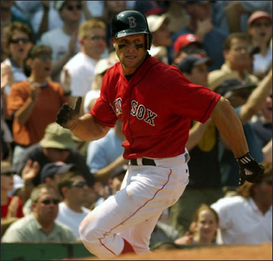 On June 28, 2003, the Red Sox purchased Kapler's contract from the Colorado Rockies. He batted .291 in 158 at-bats for Boston in 2003. Theo re-signed him for $750,000 in 2004. After starting the 2005 season in Japan, Kapler returned to the States in mid-summer and rejoined the Red Sox, playing in 26 games down the stretch.