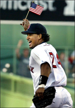 After the Red Sox were unceremoniously ousted by the Yankees in the 2003 ALCS, Theo put Ramirez on irrevocable waivers in late October. With five years and $101.5 million remaining on Ramirez's contract, no team made a claim on him, and Manny remained on the Red Sox. Still, it was a bold move by Theo and the Sox.