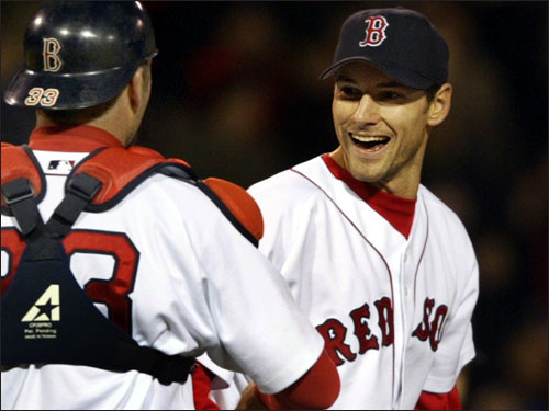 In December of 2003, the Red Sox took Mets product Lenny DiNardo in the Rule 5 draft. In 42 1/3 innings over parts of the last two seasons in Boston, DiNardo is 0-1 with a 3.40 ERA.