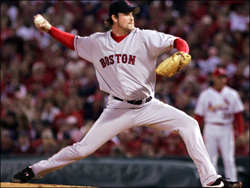 The Red Sox did not make a hard offseason run at Lowe, who won all three playoff-series-clinching games in 2004. Lowe signed a four-year, $36 million contract with the Dodgers last winter, and was 12-15 with a 3.61 ERA in his first season in Los Angeles.