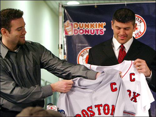 Varitek re-signed with the Sox in the offseason, agreeing to a four-year, $40 million contract. He was also named captain of the team. Varitek was solid behind the plate and got off to a strong start at the plate, but seemed to tire at the end of the year. He hit .281 on the season with 22 home runs and 70 RBIs.