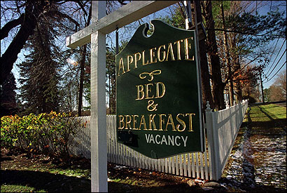 The Applegate Bed and Breakfast located in Lee, Mass. was originally a private home.