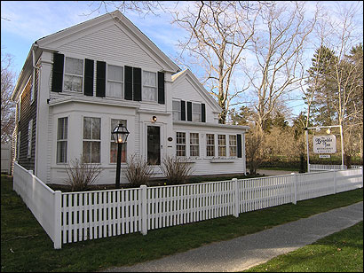 The Bramble Inn is a Civil War era farmhouse with a gourmet restaurant downstairs and five guest rooms on the second floor.