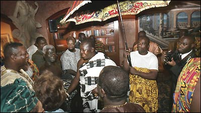 His Majesty Otumfuo Osei Tuto II, king of the Asante people of Ghana, is making his first visit to Boston this week.