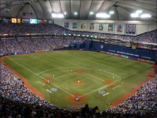 Scratch Wayne Krivsky, the Twins assistant general manager and a Connecticut native, off the list of potential Red Sox GM candidates. Krivsky, 50, interviewed with the Sox last Wednesday but since has been told he is no longer under consideration for the job, Sox president and CEO Larry Lucchino confirmed to the Globe's Chris Snow. (The Metrodome is pictured at left.)