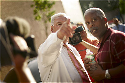 Mayor Thomas M. Menino and the Rev. Bruce Wall, pastor of Global Ministries Christian Church, recently stopped by a street plagued by violence in Codman Square.