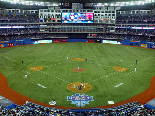 The Red Sox wanted to speak with Blue Jays director of player personnel Tony LaCava about their GM opening, but LaCava declined. He told the Toronto Globe and Mail he preferred to remain in his current job, citing both personal and professional considerations. (Toronto's Rogers Centre at left)
