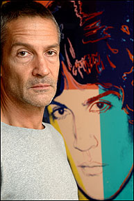 Andy Warhol painted Billy Squier for the cover of his 1982 Emotions in Motion album. 'I realized that my record company was going to want to have my face on my album cover,' Squier says, 'but I didn't want it to be just me with a guitar.' The work now hangs in his apartment.