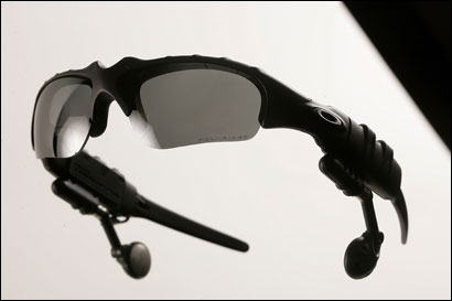 Want a personal downhill soundtrack? Download your music to the built-in MP3 player in Oakley's Thump sunglasses.