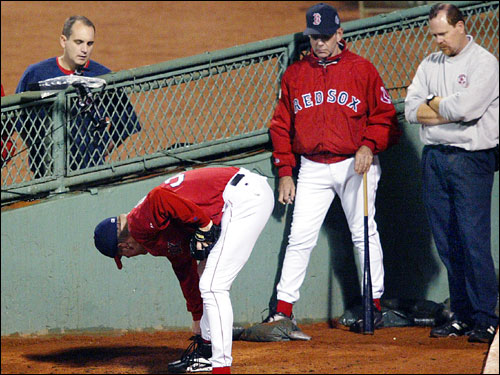 Former assistant trainer Chris Correnti, left, has been let go by the team and former head trainer Jim Rowe, right, has been reassigned in a Red Sox medical team shake-up.
