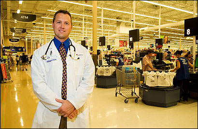 Dr. Grant Tarbox of Solantic at an Orlando Wal-Mart.