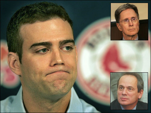 The first thing the Sox should address is Theo Epstein's status. His return in an advisory role has been rumored for the last week or so, but Larry Lucchino would only say the door was open for Theo's comeback.
