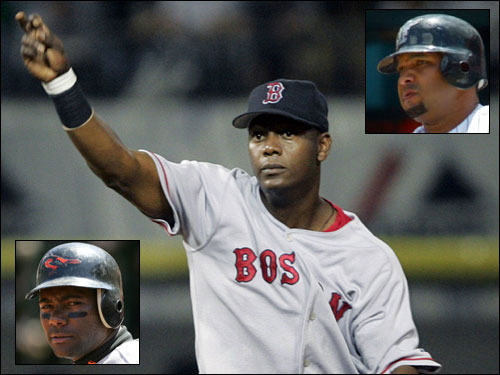 The departure of Edgar Renteria has left a hole smack dab in the middle of the infield. We don't expect Alex Cora to get the job, which means the Sox will need to go elsewhere to find a shortstop. Miguel Tejada's name was floated as a trade possibility (in exchange for Manny), but it now appears more likely the Sox will sign a free agent. Alex Gonzalez appears to be the leading candidate.