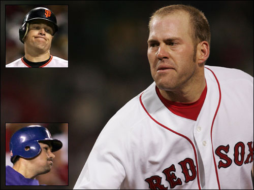 Kevin Youkilis appears to be the leading candidate to be the starting first baseman next season after the departure of Kevin Millar (not offered arbitration) and John Olerud (retired). However, rumor has it the Red Sox are considering going after a lefthanded hitter (such as J.T. Snow or Adrian Gonzalez) to platoon with the righthanded Youkilis.