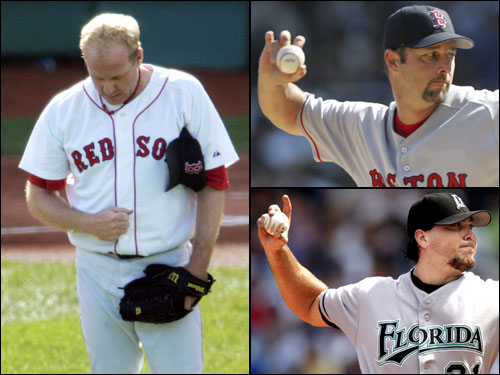 Curt Schilling, Josh Beckett, and Tim Wakefield are penciled into the starting rotation, and Matt Clement, David Wells, Bronson Arroyo, Jonathan Papelbon are also possibilities. That doesn't mean the Sox won't necessarily make a move to acquire another starter.