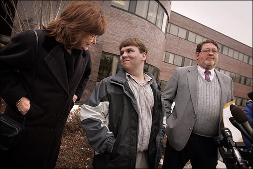 Patrick Holland, 15, the first child in state history to divorce a parent, was officially adopted in Canton March 24 by Ron and Rita Lazisky, the couple who cared for him shortly after his father killed his mother in 1998. <img src ='http://cache.boston.com/bonzai-fba/File-Based_Image_Resource/dingbat_arrow_icon.gif' alt='' title='' height='9' width='4' border='0' /> <a target='new' href ='http://www.boston.com/news/local/massachusetts/articles/2005/03/25/boy_who_divorced_parent_is_adopted'>Story