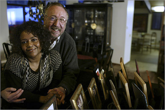 'People who might have racial biases, when they meet people one-on-one and get to know them, the barriers come down.' -- Claudette Crouse (above), with her husband, Henry.