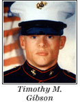 US Marine Corporal Timothy M. Gibson