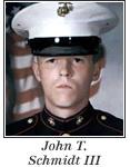 US Marine Lance Corporal John T. Schmidt III