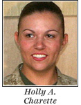 US Marine Lance Corporal Holly A. Charette