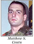 US Army 2d Lt. Matthew S. Coutu