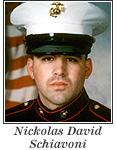 US Marine Lance Corporal Nickolas David Schiavoni