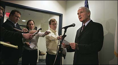Attorney General Thomas F. Reilly said yesterday at a press conference that he never hampered an investigation.