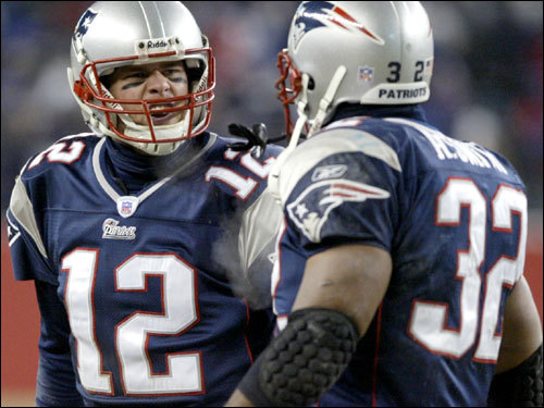 Jan. 10, 2004: Patriots 17, Titans 14 In freezing temperatures at Gillette Stadium, Brady was 21 for 41 for 201 yards and a touchdown in leading the Pats past the Titans.