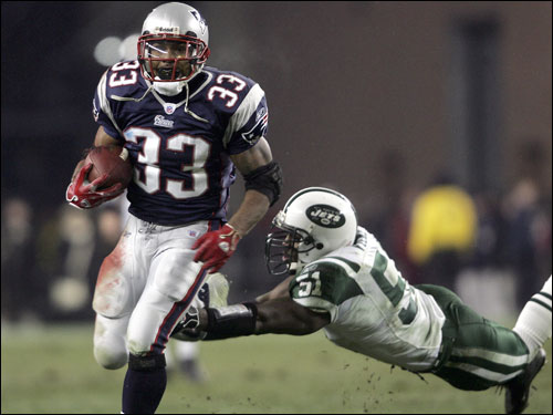 Faulk appeared in eight of the team's 16 regular-season games. He was inactive for eight games. He finished with 145 yards on 51 carries (2.8 avg.), playing primarily on third down, or passing downs (he had 260 yards receiving). He is coming off a season-high 51-yard rushing performance vs. the Jags, but based on the way the Pats have used him, he isn't suited for a full-time role. However, Bill Belichick said he's one of the team's most productive players on a per-play basis.
