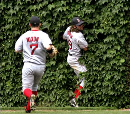 Baseball players in ivy